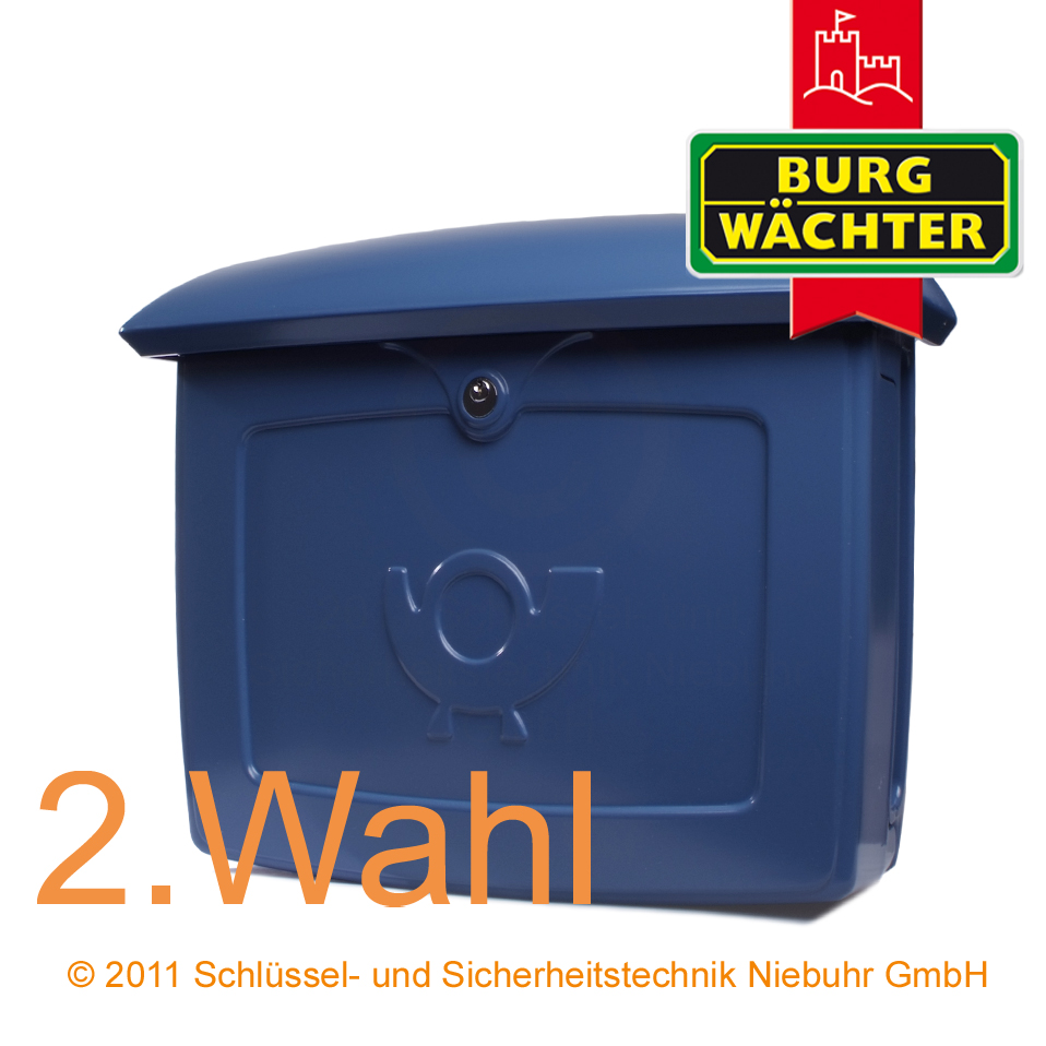 burg w chter briefkasten kunststoff malm 889 blau 2 wahl ebay. Black Bedroom Furniture Sets. Home Design Ideas
