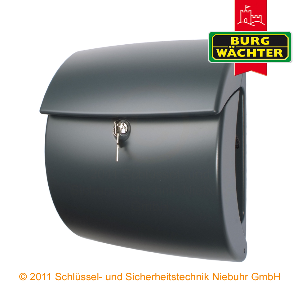 burg w chter briefkasten kiel pearl 886 farbe grau kunststoff ebay. Black Bedroom Furniture Sets. Home Design Ideas